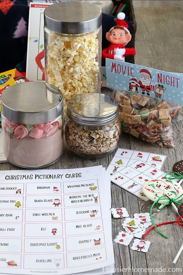 Christmas Eve Gift Basket with printables