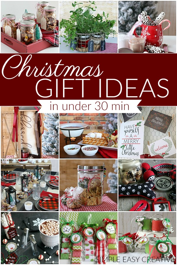 christmas gift ideas in under 30 minutes