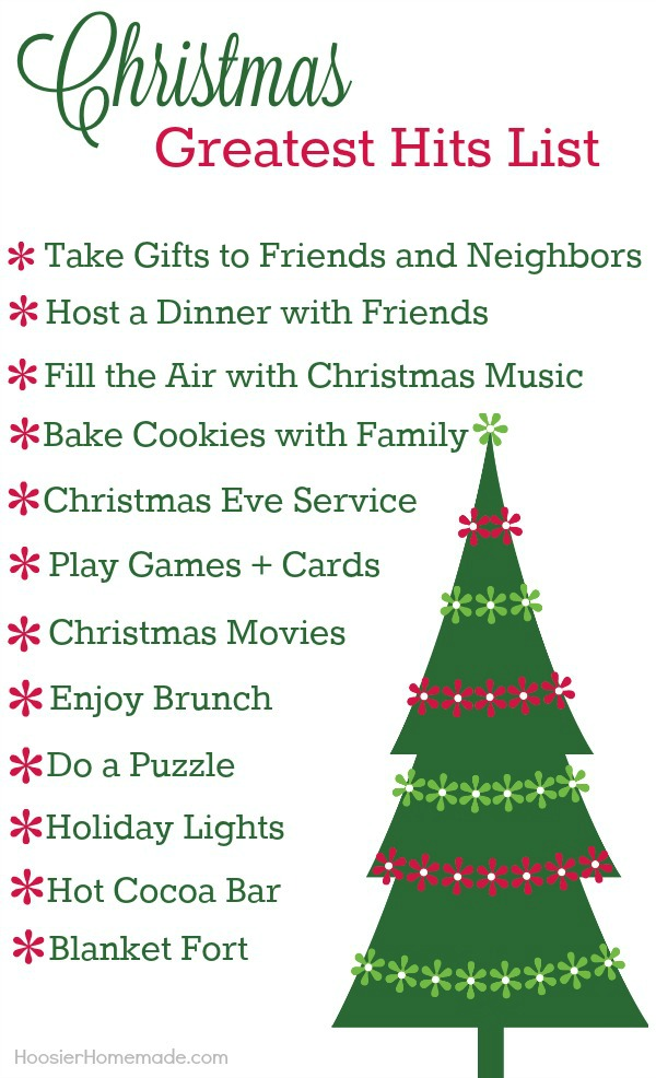 Christmas Greatest Hits List