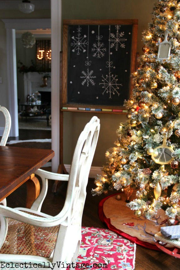 Vintage Style Christmas Decorations   100 Days of Homemade Holiday Inspiration on HoosierHomemade.com