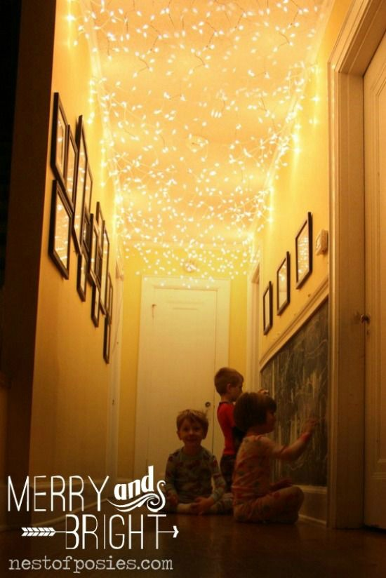 Christmas Lights on the Ceiling