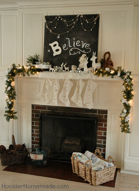 Christmas Mantel Believe Hoosier Homemade – Decorating Christmas Mantels