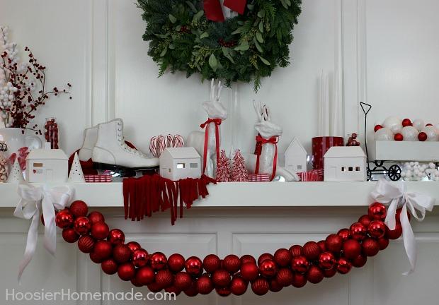 DIY Ornament Garland : 100 Days of Homemade Holiday Inspiration on HoosierHomemade.com