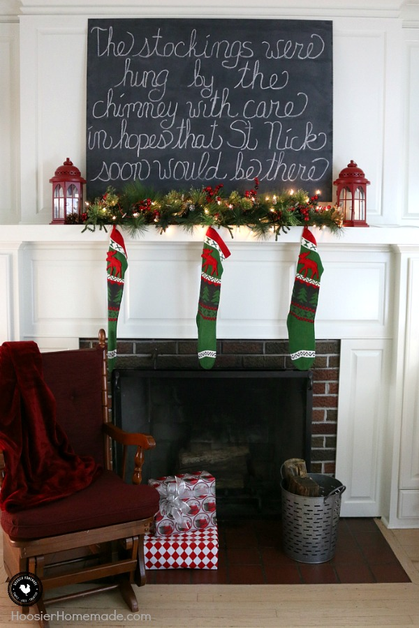 "Vintage Christmas Decorating Ideas - ""The stockings were hung by the chimney with care. In hopes that St. Nicholas would soon be there."" This Christmas Mantel will add a special memory to your home, it's easy to create and doesn't take much time at all."