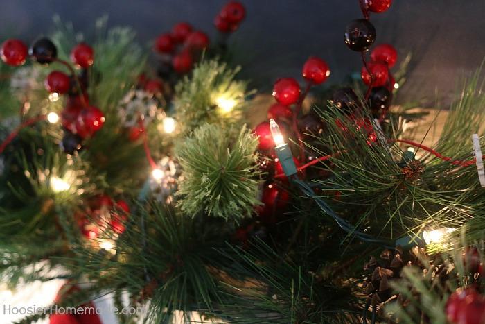 Garland for Christmas Mantel