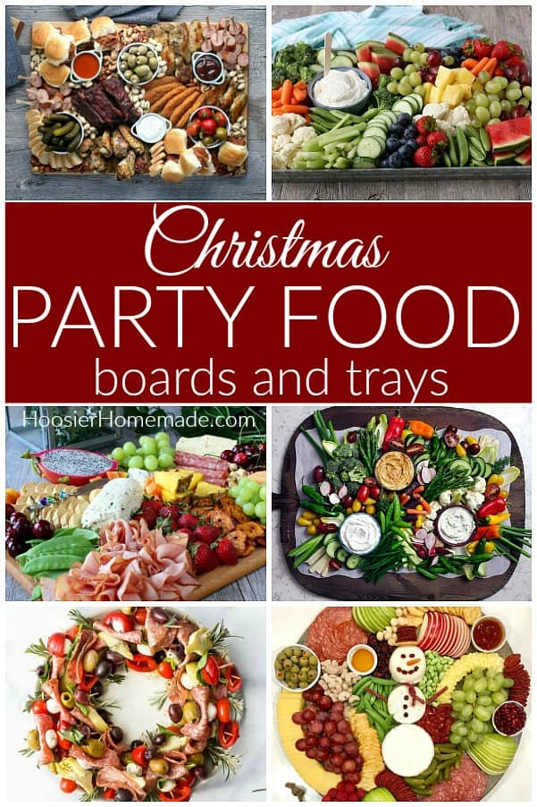 Christmas Party Food boards and trays