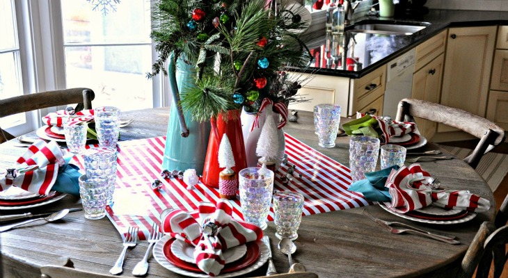 christmas kitchen decorating ideas holiday inspiration hoosier homemade - Red White And Turquoise Christmas Decor