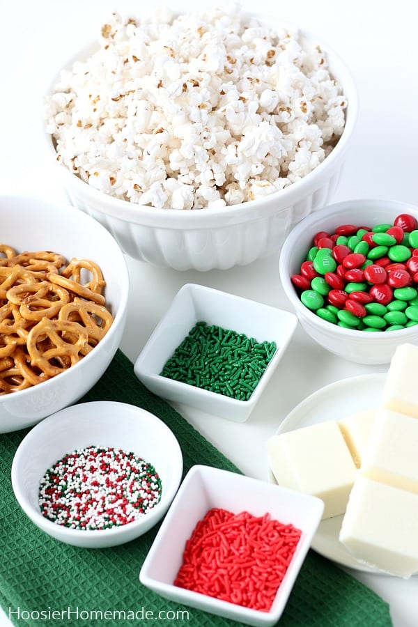 Ingredients for Christmas Popcorn