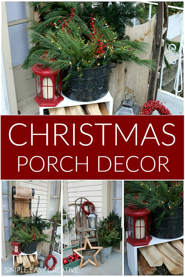 christmas porch decorating holiday inspiration hoosier homemade