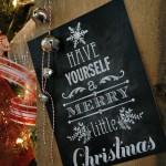 Christmas Printable.Chalkboard