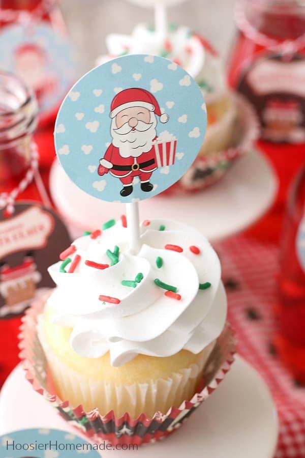 Christmas Printables Cupcake Topper