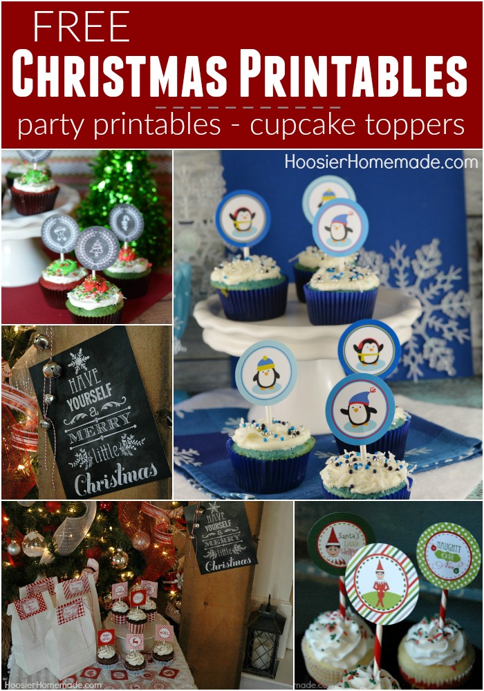 FREE Christmas Printables :: Cupcake Toppers, Treat Bags, and Christmas Tags - grab all the Christmas Printables you need right HERE!