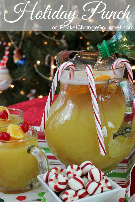 Serve your guests this Christmas Punch! It's easy to make with only a few ingredients! Pin this to your Christmas Recipe Board!
