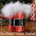 Make this cute Santa Bucket with just a few simple supplies! Perfect for your Christmas gift giving! Pin to your Christmas Board!
