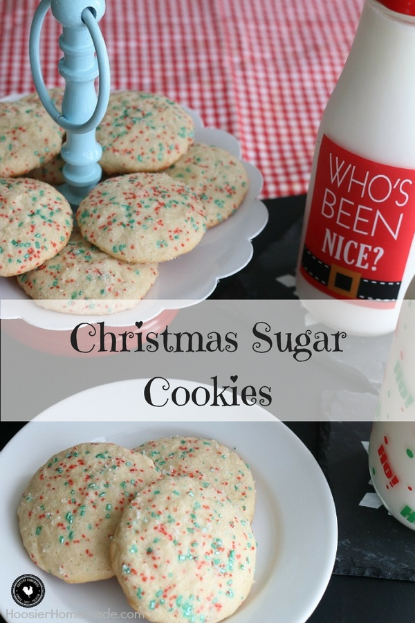 Christmas Sugar Cookies - my favorite sugar Christmas recipe for Christmas. Santa will love them!