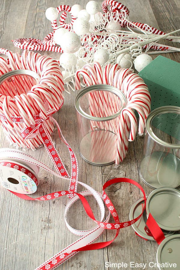 Supplies for Christmas Table Centerpieces
