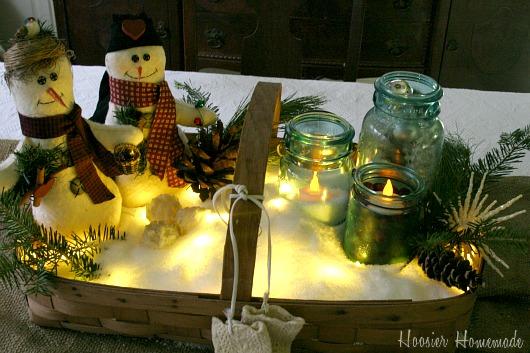 Diy Snowman Table Decorations Photograph Christmas Table D