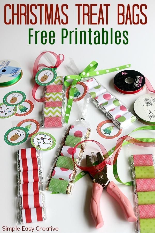 CHRISTMAS TREAT BAGS - FREE PRINTABLES