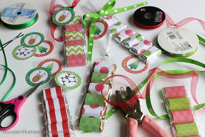 Supplies for Christmas Treat Bags