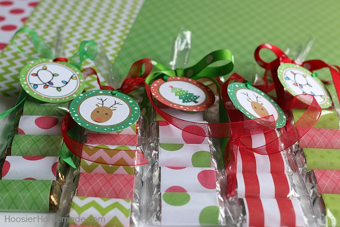 Christmas Treat Bags with FREE Printables