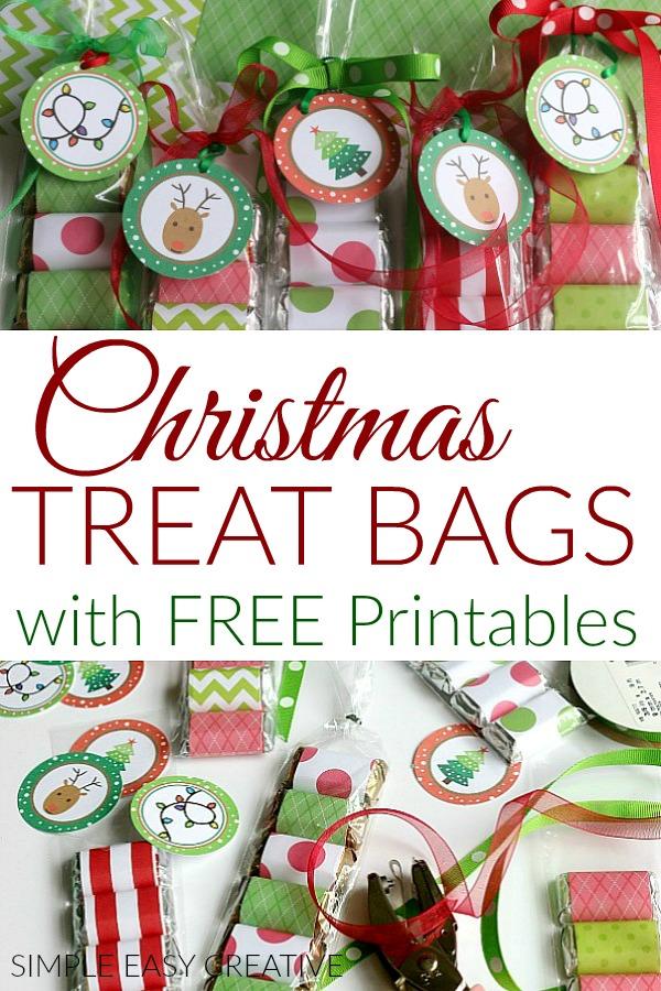 Christmas Treat Bags with FREE Printable Tags