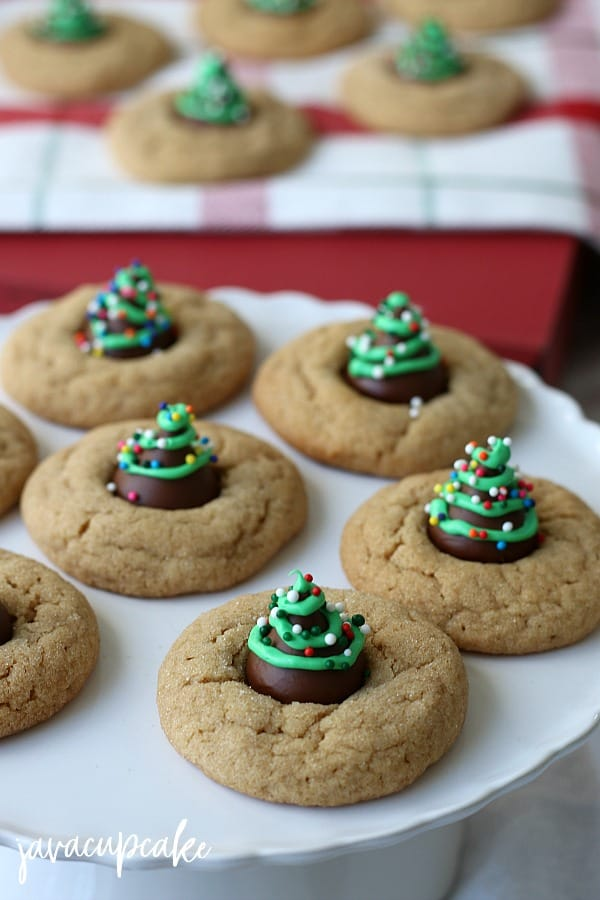 Peanut Butter Blossoms Christmas Trees