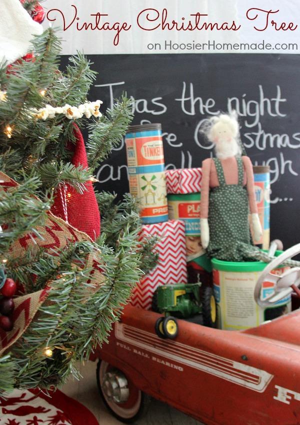 Vintage Christmas Tree   on HoosierHomemade.com