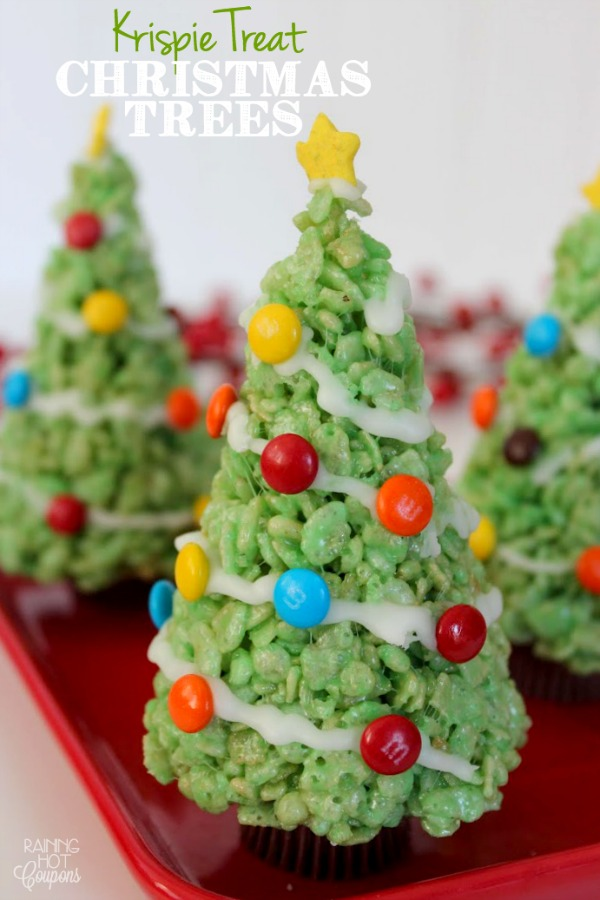 Why make normal rice krispie treats when you can make these awesome Krispie Treat Christmas Treats! The kids will have a blast decorating them! Visit our 100 Days of Homemade Holiday Inspiration for more recipes, decorating ideas, crafts, homemade gift ideas and much more!