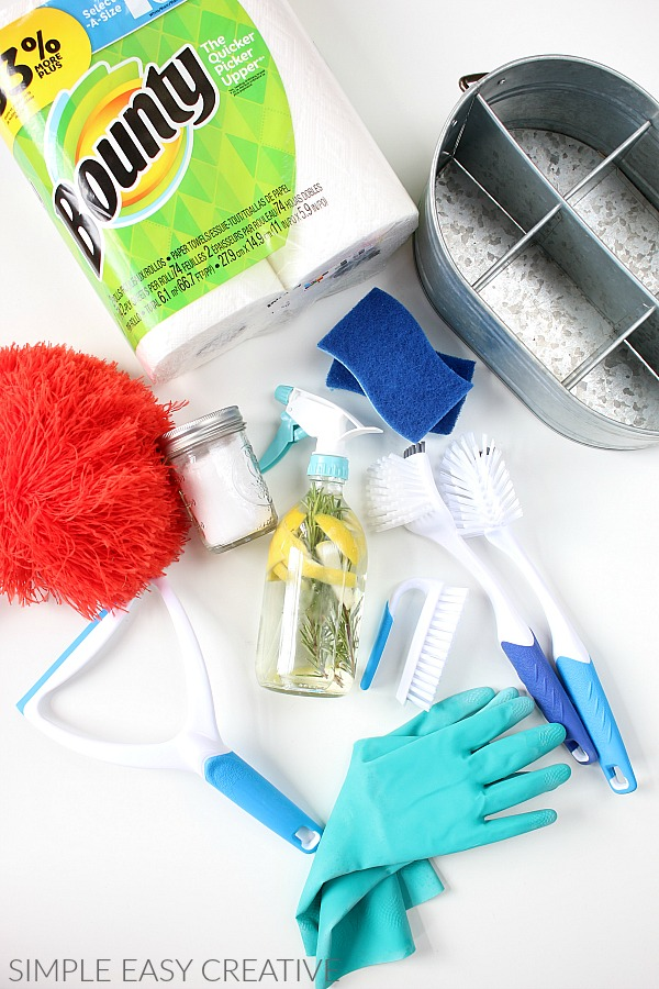 Supplies for Cleaning Caddy