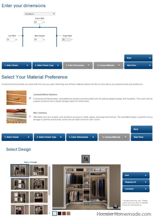 ClosetMaid Design Tool