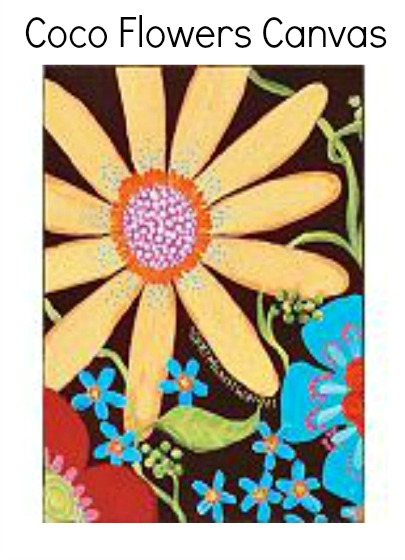 Coco Flowers Canvas
