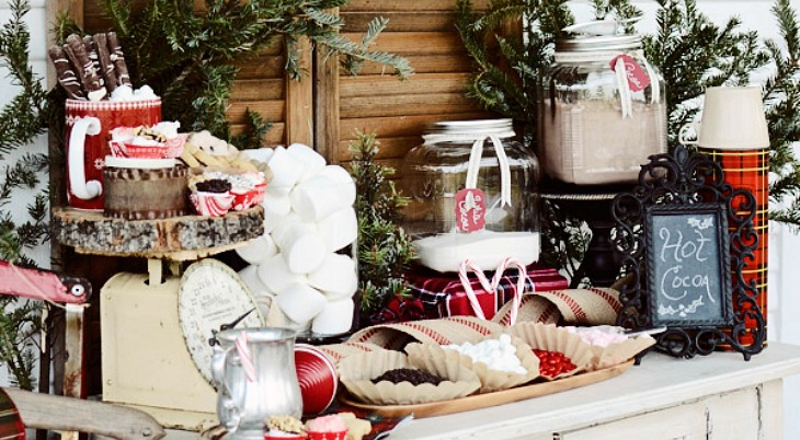 Front Porch Hot Cocoa Bar Holiday Inspiration Hoosier