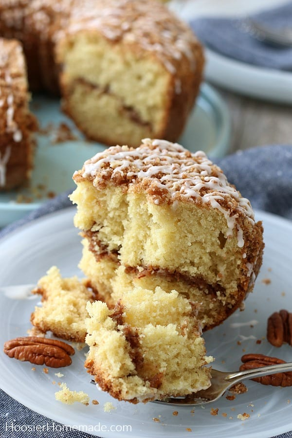 Coffee Cake Recipe cut on plate