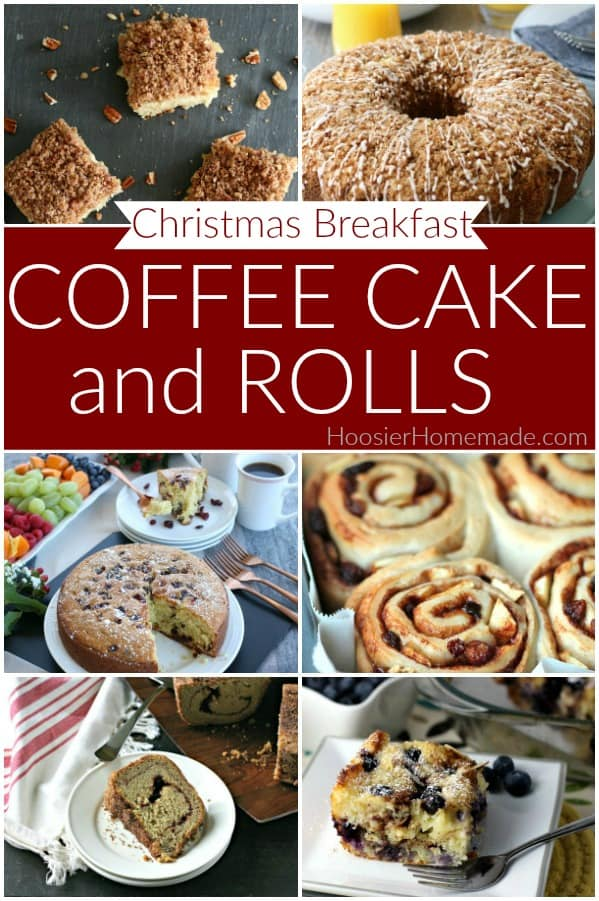 Coffee Cake and Rolls for Christmas Breakfast