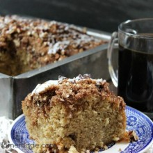 Cinnamon Pecan Coffee Cake :: Recipe on HoosierHomemade.com