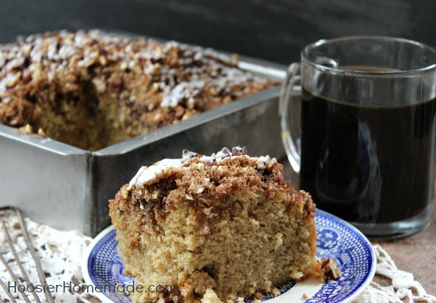 Cinnamon Pecan Coffee Cake :: Recipe on HoosierHomemade.com
