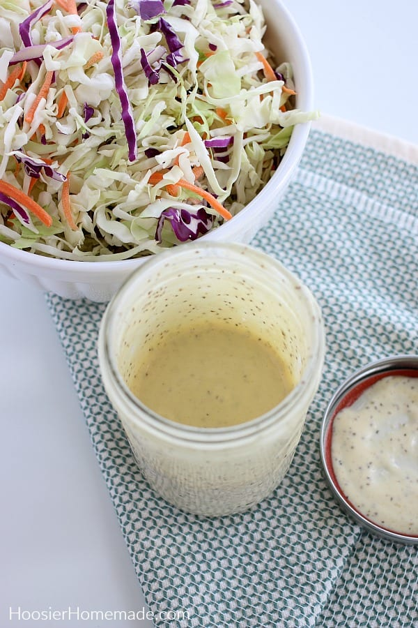 Coleslaw Dressing mixed in mason jar