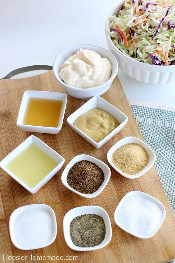 Ingredients for Coleslaw Dressing
