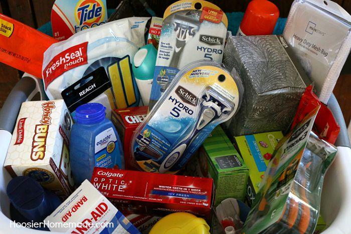 College Essentials Gift Basket