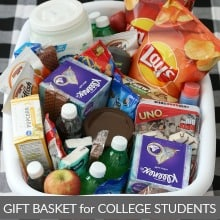 College Student Gift Basket