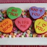 Conversation Heart Cupcakes - February 2012