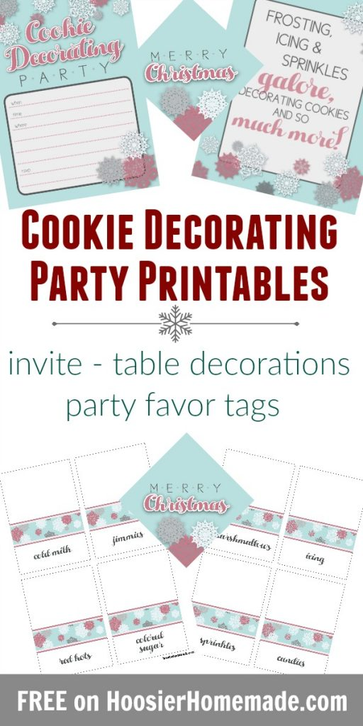 Cookie Decorating Party with Printables