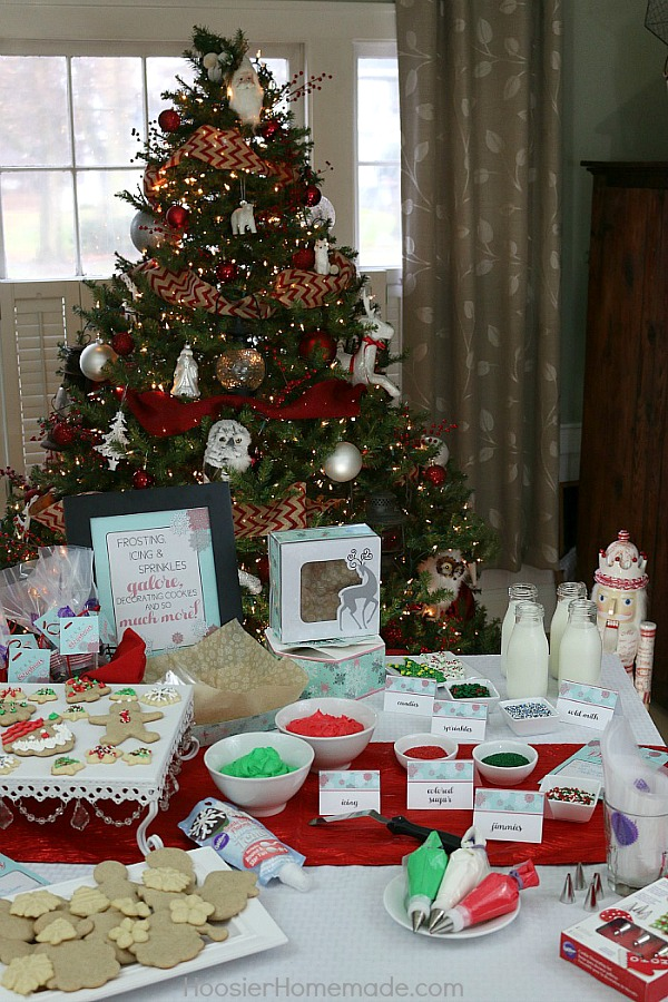 host a cookie decorating party for friends and family complete with - Christmas Cookie Decorating Party