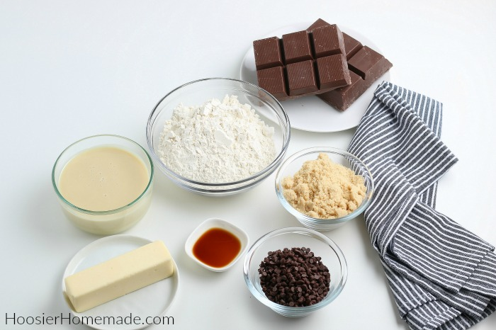 Ingredients for Cookie Dough Truffles