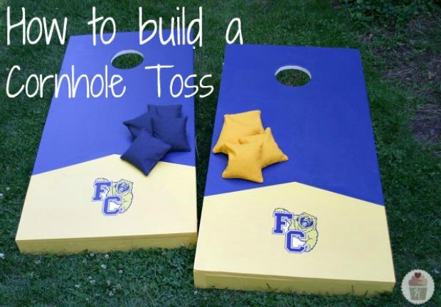 How to build a Cornhole Toss on HoosierHomemade.com