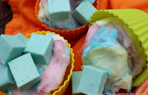 Cotton Candy Fudge :: Recipe on HoosierHomemade.com