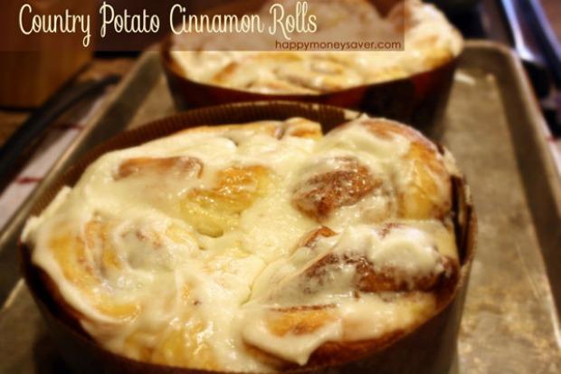 Country Potato Cinnamon Rolls: 100 Days of Homemade Holiday Inspiration on HoosierHomemade.com