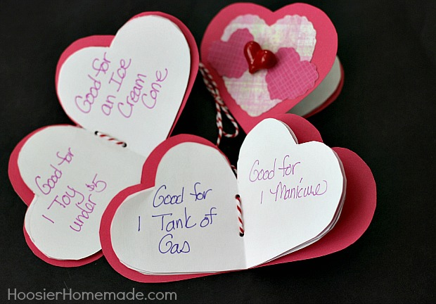 Handmade Coupon Books | Instructions on HoosierHomemade.com