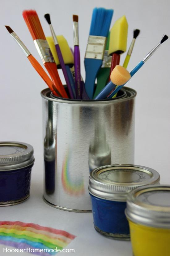 Homemade Paint for Kid's Crafts | from HoosierHomemade.com