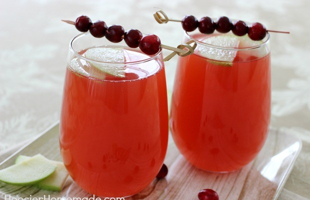 Cranberry Apple Spritzer Mocktail : Recipe on HoosierHomemade.com